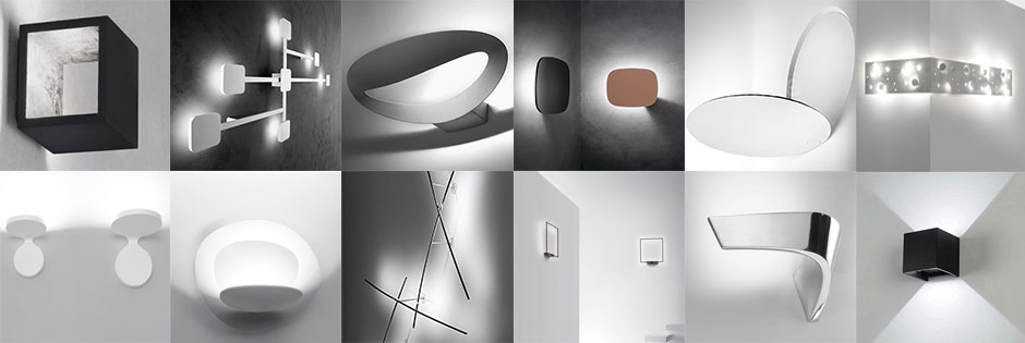 Lampade a led moderne a torino le nuove luci led luxart - Lampade design parete ...