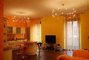 ambientazione di lampadari a Torino della fabbrica Luxart