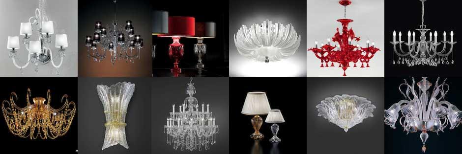 lampadari classici di Murano in cristallo Luxart Torino