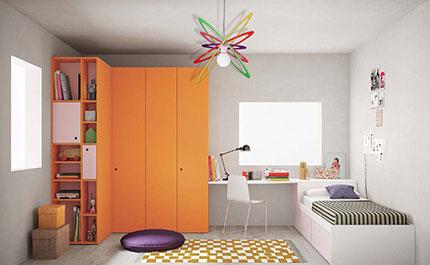 lampadario per camerette bambini multicolore Luxart Torino