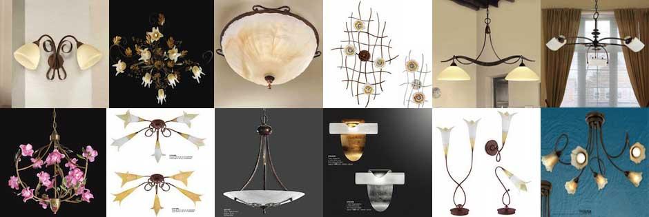 Plafoniere Da Soffitto Classiche.Lampade Classiche Cristalli Murano Ferro Battuto Ceramica