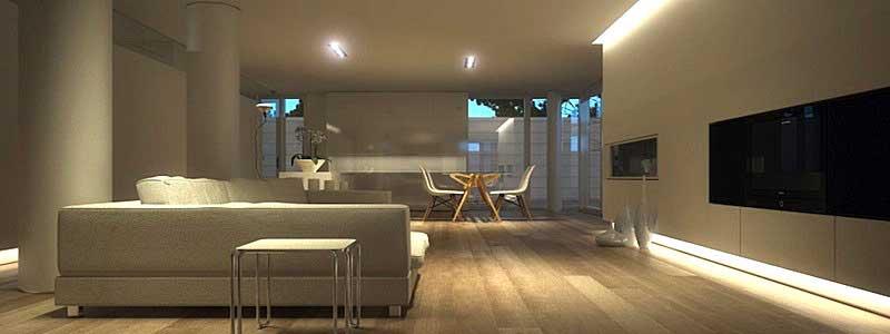 Illuminazione per soggiorno - Luce originale e funzionale