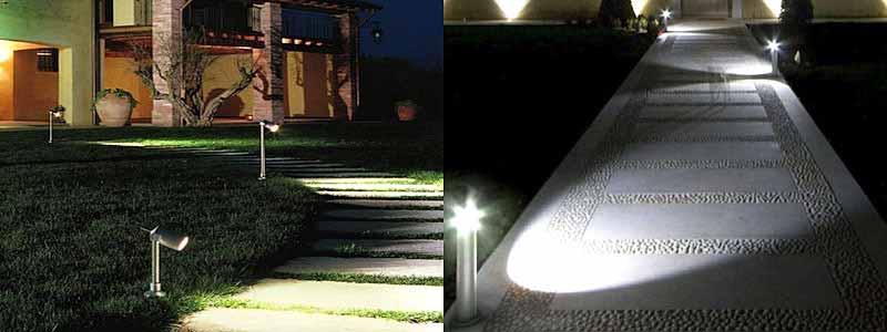 illuminazione da esterno con paletti a led Luxart Torino