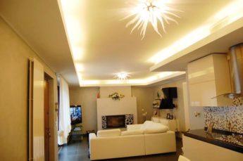 ambientazioni illuminazione soggiorno con profili a led
