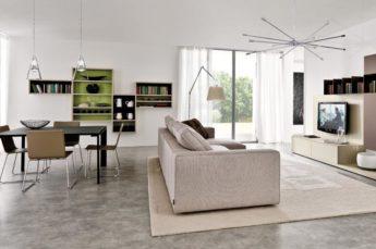 ambientazione illuminazione illuminazione soggiorno moderno