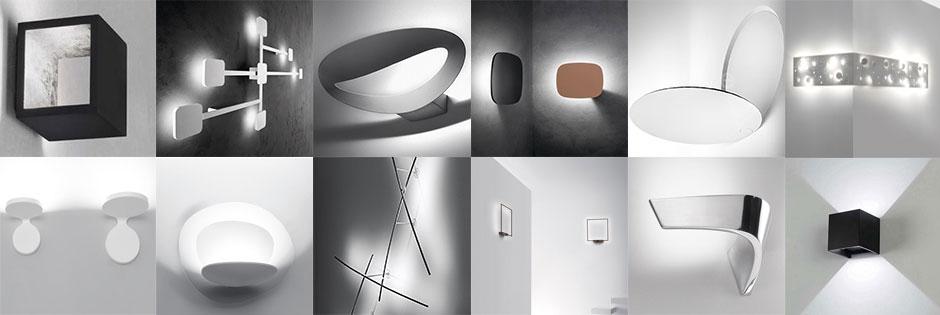 lampade a led di design a parete di Luxart Torino