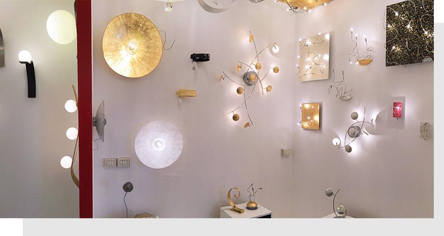 esposizione lampadari Rivoli Torino luxart