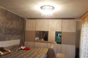 Plafoniera Neve ideal-lux in camera da letto