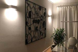ambientazione di applique a led in soggiorno