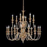 lampadario classico di Murano in cristallo ambrato di De Majo