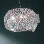 lampada a sospensione in cristallo di Marchetti illuminazione