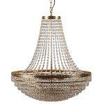 lampadario classico in oro e cristalli di Rossini