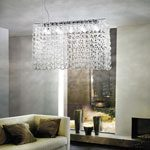 Lampadario moderno con cristalli Giogali di Vistosi
